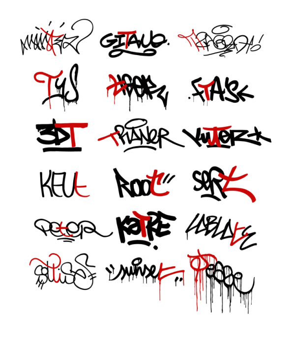 Graffiti Tags T. Graffiti Taxonomy Paris 2009 -